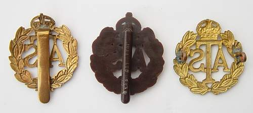 The ATS Other Ranks cap badge