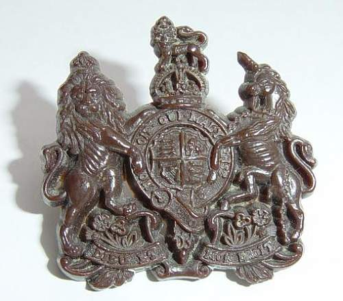 Click image for larger version.  Name:Plastic General Service Corps cap badge..JPG Views:633 Size:41.7 KB ID:335431