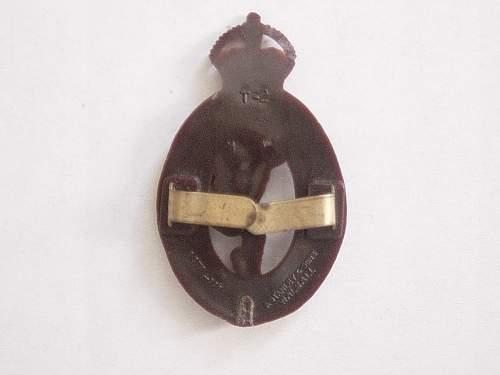 Click image for larger version.  Name:Royal Signals Plastic cap badge reverse..jpg Views:410 Size:185.0 KB ID:335432