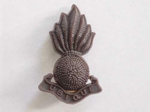 Click image for larger version.  Name:Royal Artillery Plastic cap badge..jpg Views:3460 Size:183.4 KB ID:335434