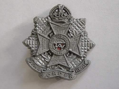 Click image for larger version.  Name:Border Regt Plastic cap badge..jpg Views:328 Size:244.5 KB ID:335446