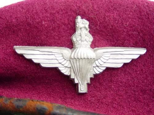 WW2 British Plastic Cap badges