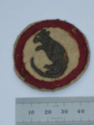 Please help me ID my grandads ww2 army patches, desert rat jerboa, wolfs head :)