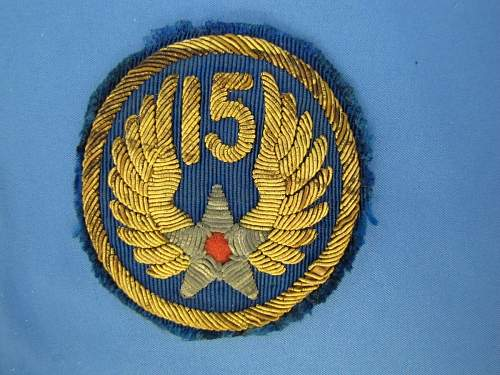 15th USAAF BULLION PATCH - DOES IT LOOK AUTHENTIC?