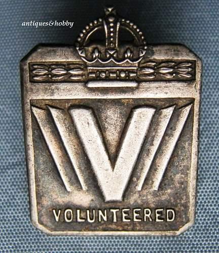 Australia Service Exemption badge 1940