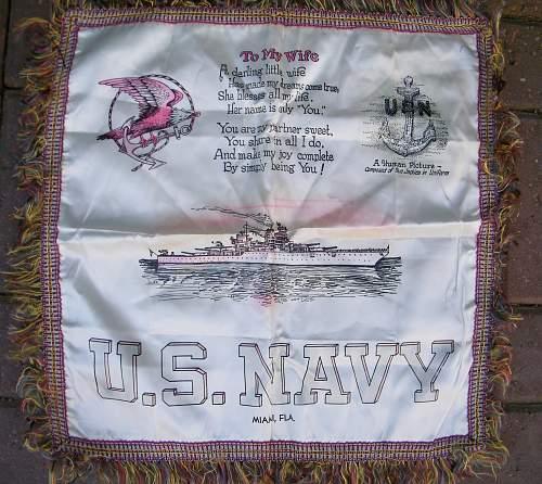 US Navy pillow case
