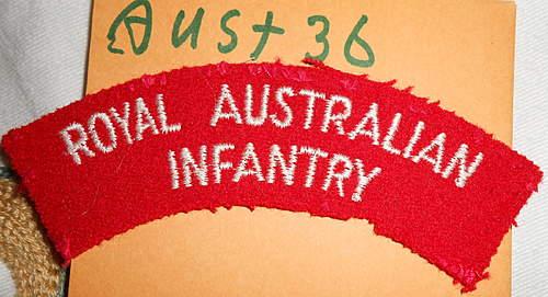 Australian/NZ cloth shoulder titles