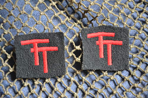 TT Formation Badges from Bayeux, Normandy