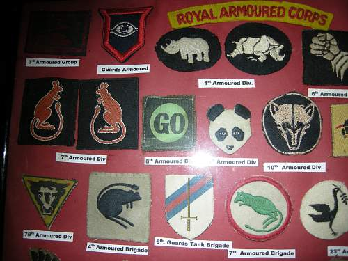Click image for larger version.  Name:Armoured Div. Badges 001.jpg Views:588 Size:225.3 KB ID:398722