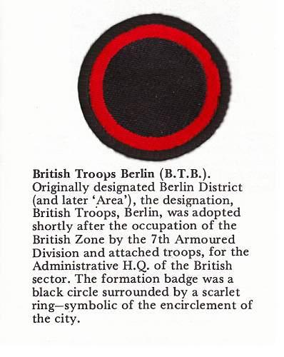 My British Army shoulder flash collection