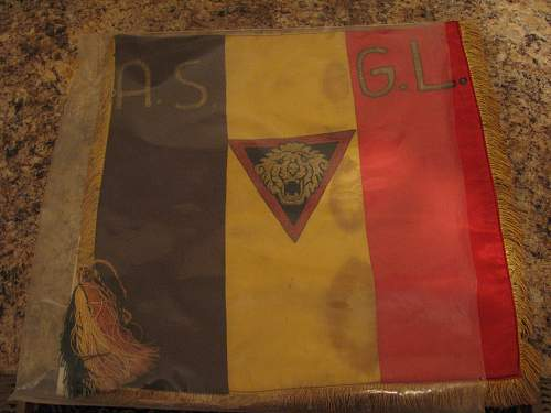 Belgian flag and plaque