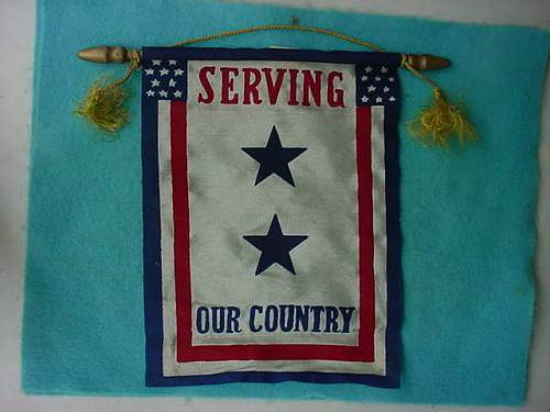 US serving our counrty window flag
