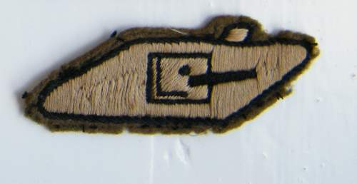 British 1st Armoured Div Patches