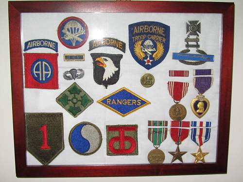 D-Day Insignia Display
