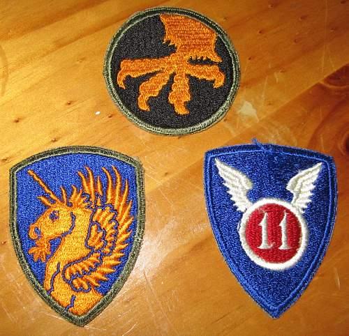 U.S. Airborne and USMC insignia for review