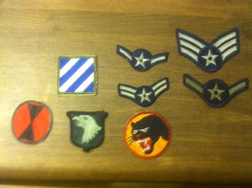 How to identify WW2 patches.