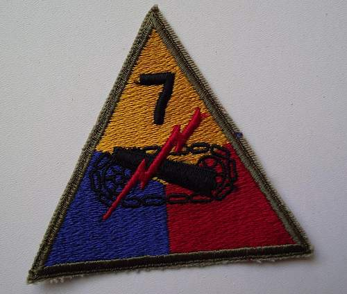 US 7th Armored Division patch