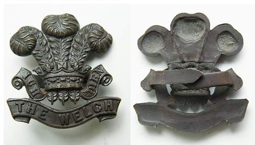 Click image for larger version.  Name:The Welch osd cap badge s.jpg Views:95 Size:198.1 KB ID:438214