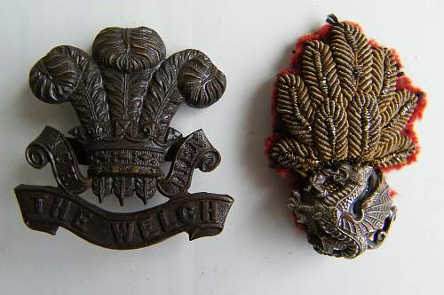 Welch cap badges