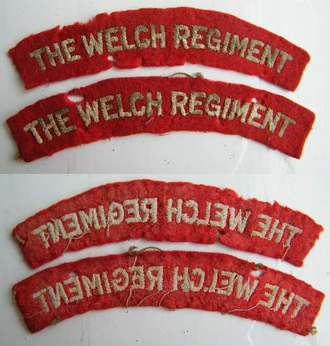 Click image for larger version.  Name:The Welch regiment titles m.jpg Views:315 Size:249.8 KB ID:463445