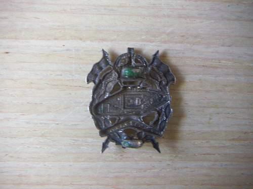 WW2 Australian Armoured Corps Headress Insignia.