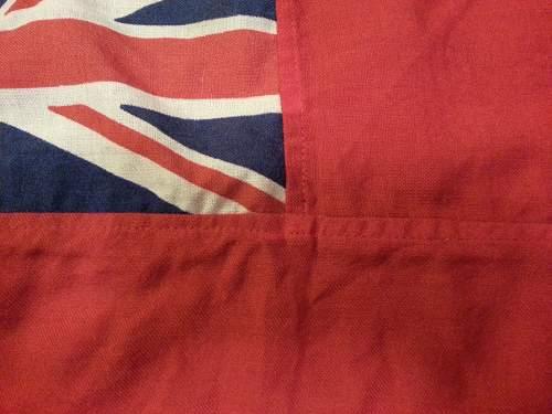 Brit naval flag identification.
