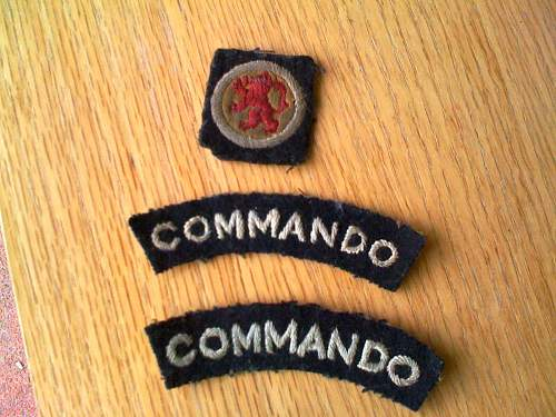 Commando Shoulder Titles and Mystery Cloth Badge
