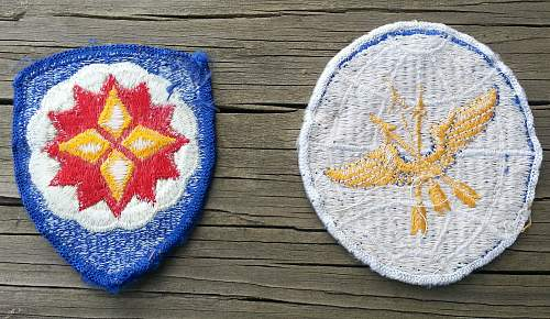 post  WW2 U.S. patches....any ideas on what they are?