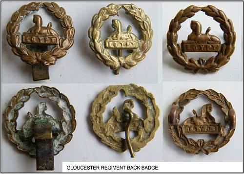 Gloucester regiment back badges