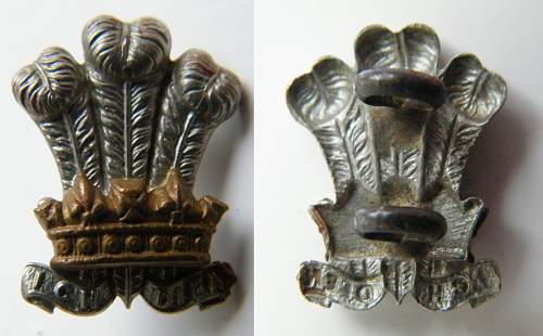 Cap badges from a trade