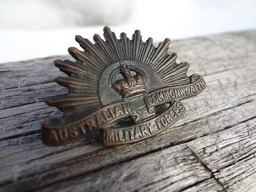 Australian and South African badges