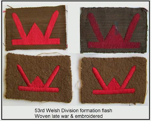 Click image for larger version.  Name:27 53 welsh div woven and embroidered.jpg Views:85 Size:225.6 KB ID:489490