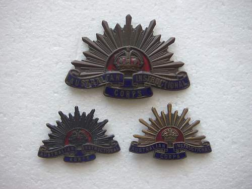 Australian Instructional Corps insignia set.
