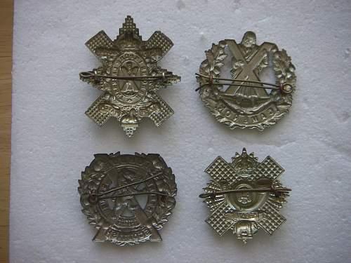 Cameron Cap Badge