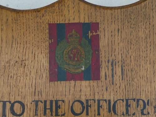 Remembrance wall shield