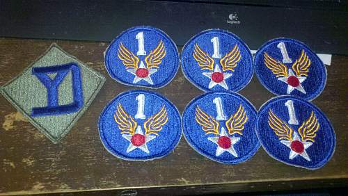 Some new patches I have bought.