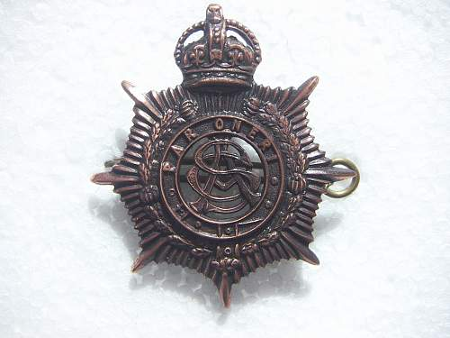 Click image for larger version.  Name:WW2 Army Service Corps Hat Badge.jpg Views:154 Size:220.1 KB ID:505128