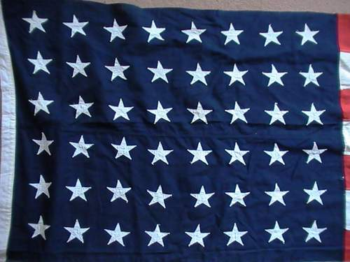 U.S. 48 star vintage flag