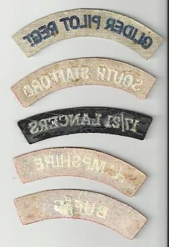 British Cloth Shoudler Titles