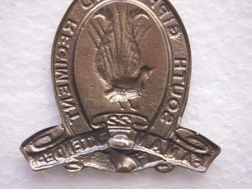 Click image for larger version.  Name:22nd South Gippsland Reg. Silver Hat badge 3.jpg Views:112 Size:239.1 KB ID:514811