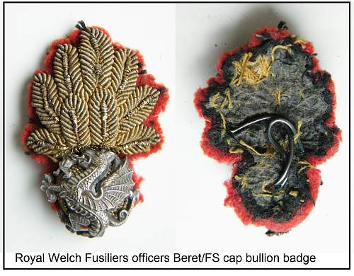 Click image for larger version.  Name:10 RWF beret badge.jpg Views:132 Size:280.4 KB ID:516224