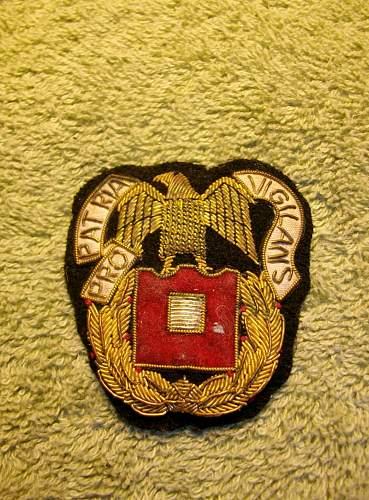 Signal Corps Regimental Bullion Patch