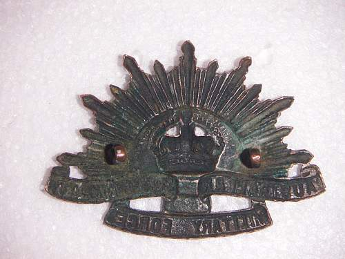 Click image for larger version.  Name:GS hat badge Sheridan Perth 2.jpg Views:68 Size:278.6 KB ID:526105