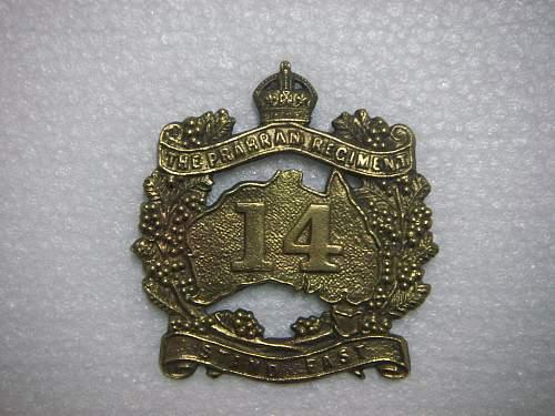 Click image for larger version.  Name:14th Battalion The Prahran Regiment  hat badge 1.jpg Views:103 Size:295.6 KB ID:534832