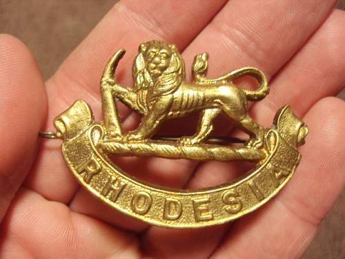Rhodesia hat badge ??