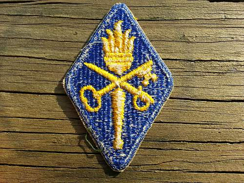 Army  Quartermaster  patch,WW2 or Korean?