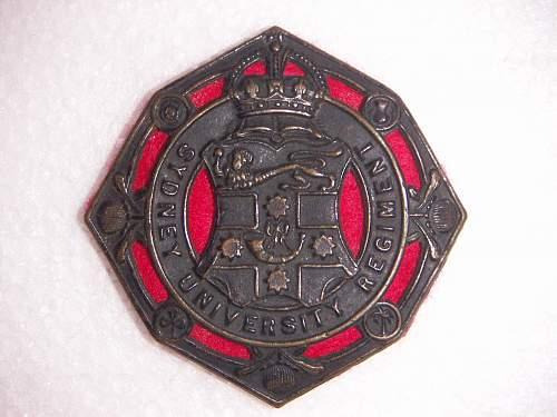 Click image for larger version.  Name:Sydney University Regiment hat badge.jpg Views:132 Size:235.5 KB ID:538389
