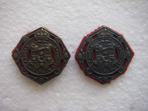Click image for larger version.  Name:Sydney University Regiment collar set.jpg Views:119 Size:213.7 KB ID:538390