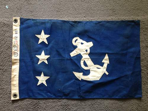 Need help identifying 2 small (ship/boat?) flags.
