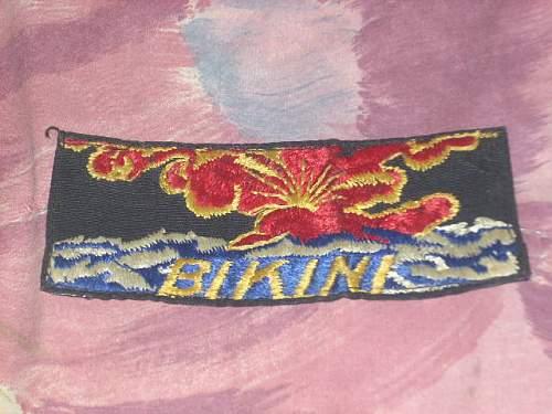 Help with i.d. On patch post ww2(1946-?)bikini atoll..